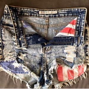 Pants - Denim Blvd American Style Jean Cutoff Shorts Small